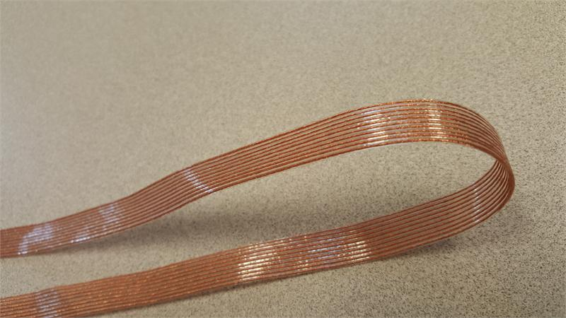 Flat Conductor Ribbon Cable : Ultra flexible daflex silicone hi temp idc