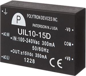 Polytron UIL10 Series AC-DC Power Supply Module, Universal Input